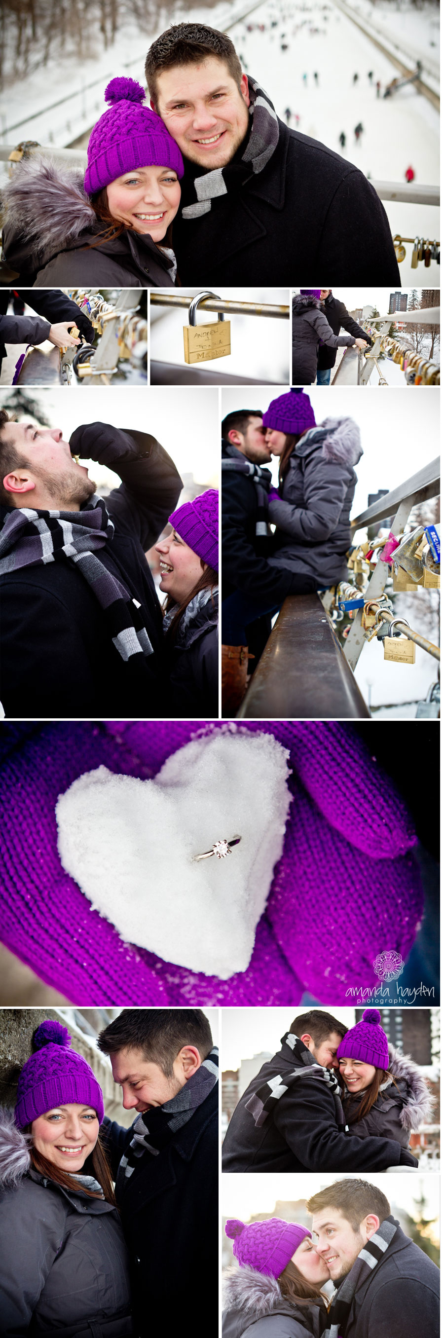 Ottawa Engagement Photographer, Ottawa Canal, Love Lock Bridge